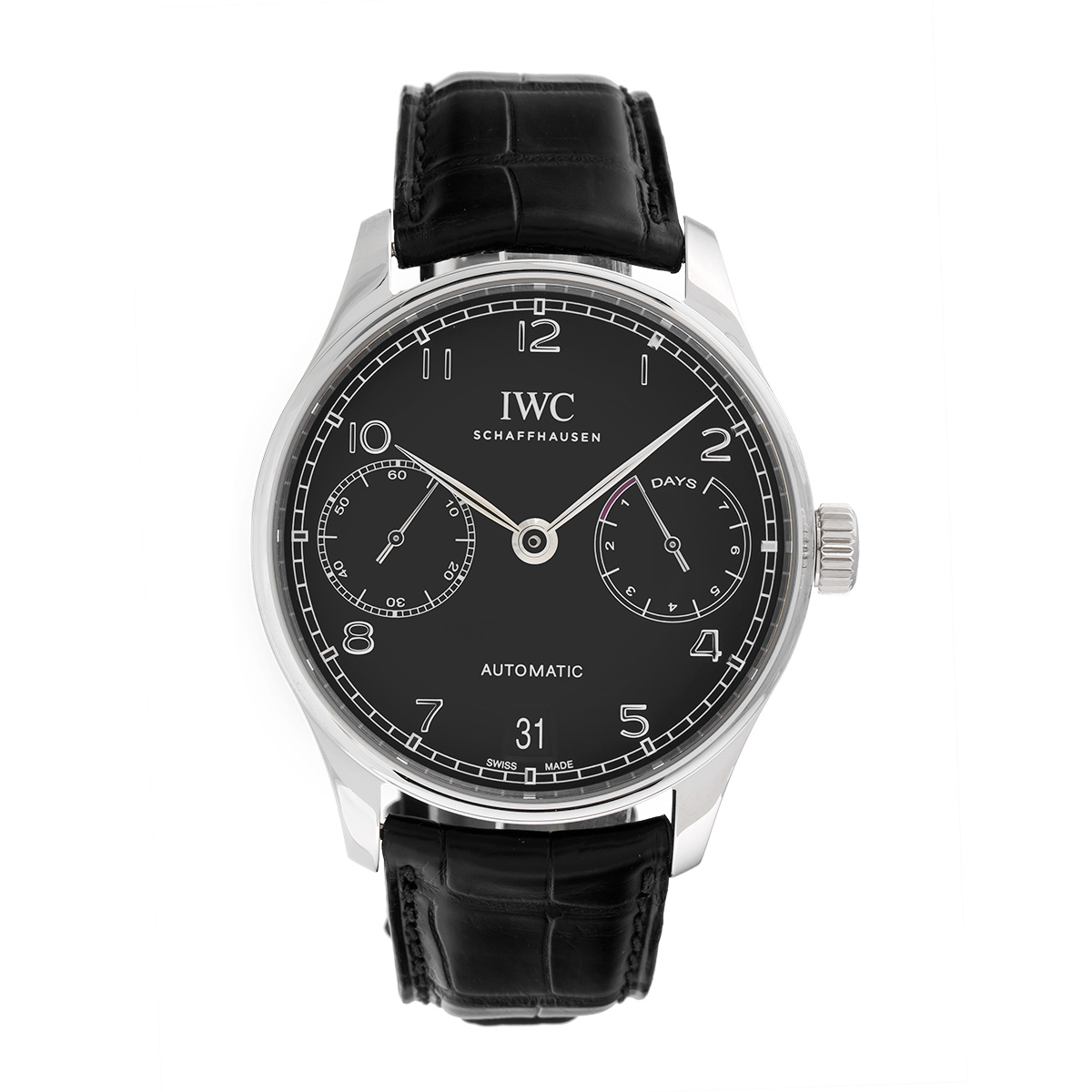 "Image of ""IWC Portugieser Iw500703 Stainless Steel Automatic 42.3mm Mens Watch"""