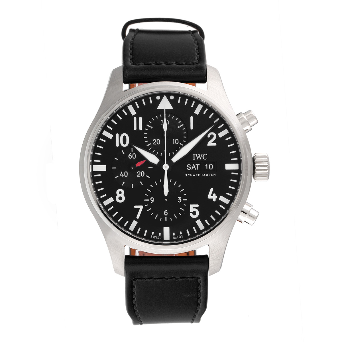"""Image of """"IWC Pilot Iw377709 Stainless Steel Automatic 43mm Mens Watch"""""""