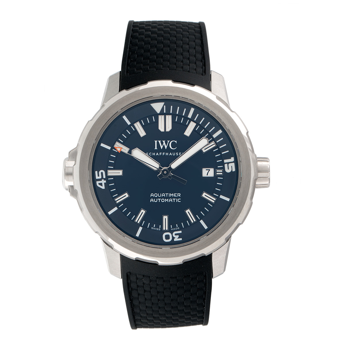 """Image of """"IWC Aquatimer Iw329005 Stainless Steel & Blue Dial Automatic 42mm Mens"""""""