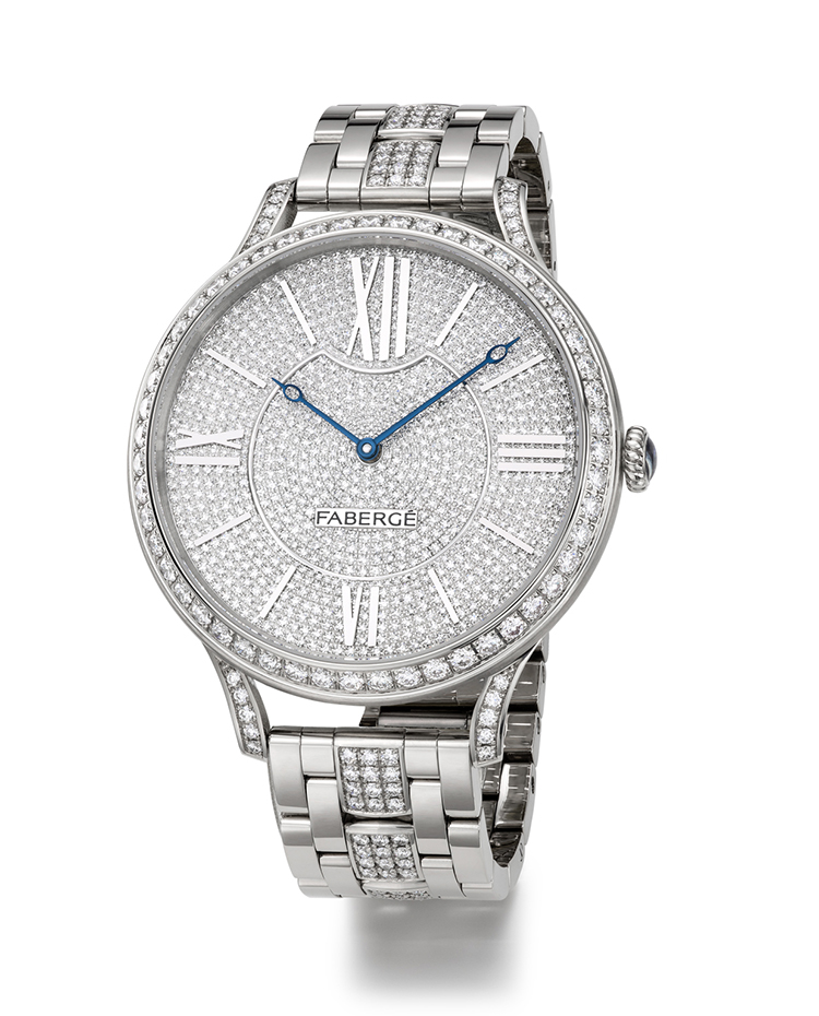 "Image of ""Fabergé Flirt 39mm 18 Karat White Gold Watch"""
