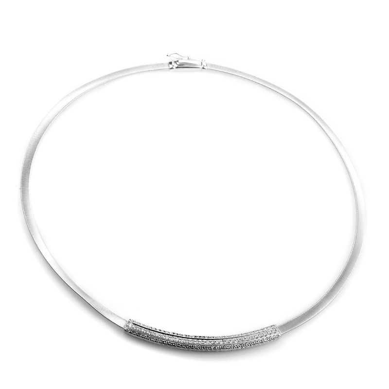 "Image of ""Marco Bicego 18K White Gold Diamond Pave Collar Necklace"""