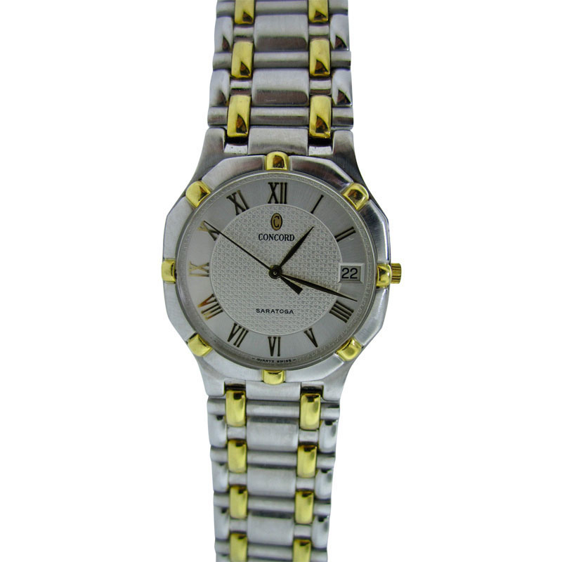 """Image of """"Concord Saratoga Men's 18K Gold & Stainless Steel Watch"""""""