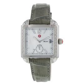 Michele MW15A01A2025 Milou Diamond Bezel Olive Strap Womens Watch