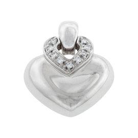 Bvlgari Bulgari 18K White Gold Diamond Dopio Cuore Pendant