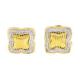 David Yurman Diamond 18K Gold Womens Earrings