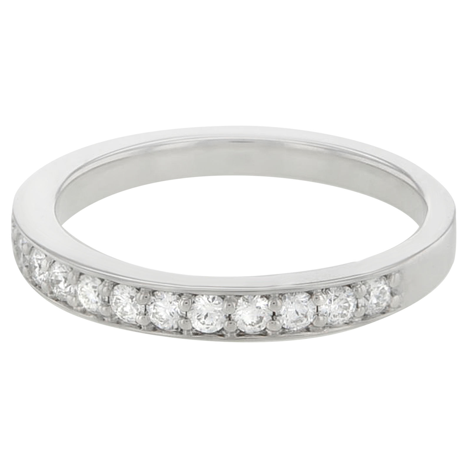 "Image of ""Hearts on Fire 18K Gold & Diamonds Truly Bridal Band"""