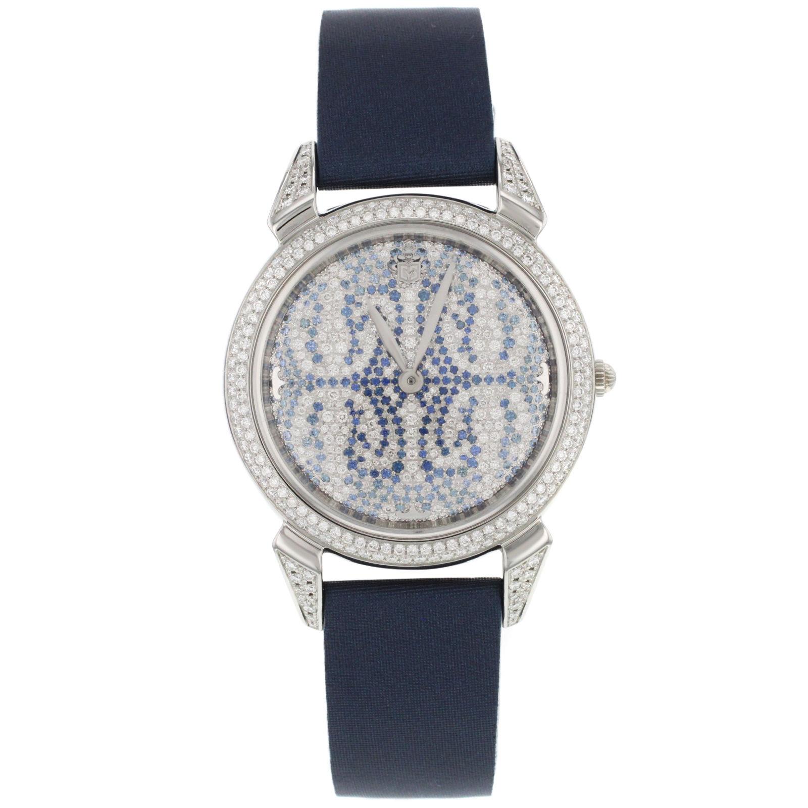 """Image of """"Cuervo Y Sobrinos Historiador 3112.1Sp - SP Diamonds & Sapphires Watch"""""""
