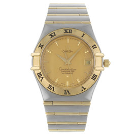Omega Constellation Classic 1202.10 Steel & Gold Automatic Mens Watch