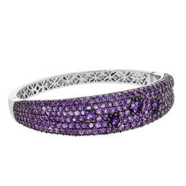 Roberto Coin 18K White Gold Amethyst Bangle Bracelet