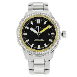iwc aquatimer iw356801 stainless steel automatic mens watch