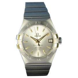 Omega 123.20.38.21.02.005 Constellation CoAxial Auto Steel 18K Gold Watch 38mm