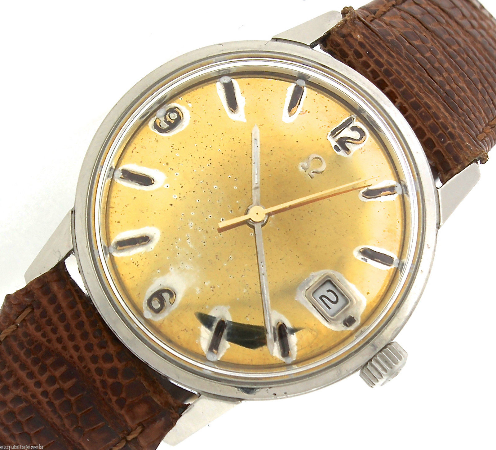 "Image of ""Omega Seamaster Vintage Automatic 166.037 SP Stainless Gold Date Watch"""