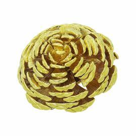 Tiffany & Co. 18K Yellow Gold Pine Cone Pin Brooch