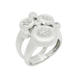 Chimento 18K White Gold Diamond Cluster Split Shank Ring