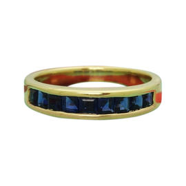 Tiffany & Co. 18K Yellow Gold Sapphire Band