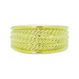 David Yurman 18K Yellow Gold Wide Cable Band Ring