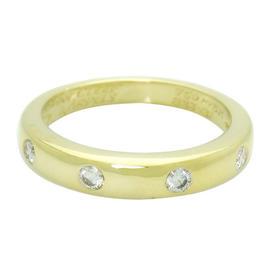 Van Cleef & Arpels 18K Yellow Gold Round Cut Diamond Band Ring