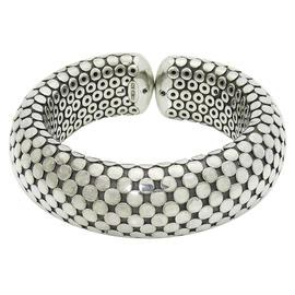 John Hardy 925 Sterling Silver Dot Flexible Cuff Bracelet