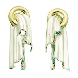 Tiffany & Co. Sculptured 14K Yellow Gold Earrings