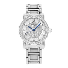 Bulova Diamond 96R144 Stainless Steel Quartz Ladies Watch