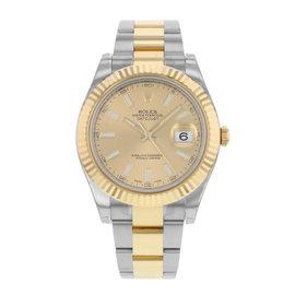 Rolex Datejust II 116333 CHIO Steel & 18K Yellow Gold Automatic Men's Watch