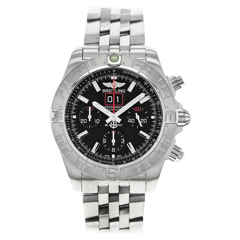 """Image of """"Breitling Windrider Blackbird A4436010/bb71-371A Stainless Steel"""""""