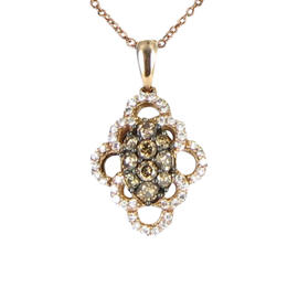 Le Vian 14K Rose & Yellow Gold Chocolate White Diamond Necklace