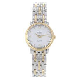 Omega DeVille Prestige 424.20.24.60.05.001 Steel & Gold Quartz Womens Watch