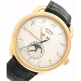 Hermes Arceau Grande Lune AR8.870 038014WW00 18K Rose Gold Moonphase Mens 43mm Watch