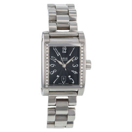 Oris Culture Miles Rectangular Diamonds 56175364968MB Stainless Steel Automatic Womens Watch