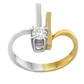 Salvini 18K Yellow & White Gold 0.2ct. Diamond Ring
