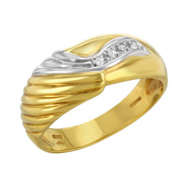 Salvini 18K Yellow & White Gold 0.04ct. Diamonds Ring