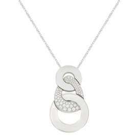 Salvini 18K White Gold & 1.30 ct.Diamonds Pendant Necklace