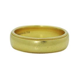 Tiffany & Co. 18K Yellow Gold Milgrain Wedding Band Ring
