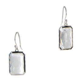 Ippolita Sterling Silver Rock Candy Rectangular Clear Quartz Earrings