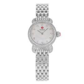 Michele Petite MWW03A000230 CSX Steel & Diamonds Quartz Womens Watch