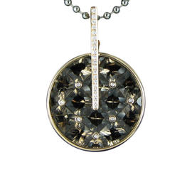 Bellarri 18K Rose Gold Diamonds and Smokey Quartz Pendant