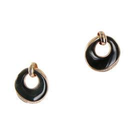 Chimento 18K Rose Gold Preziosa Diamond Obsidian Earrings