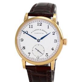 Lange & Sohne 235.032 18K Rose Gold & Leather 38.5mm Watch