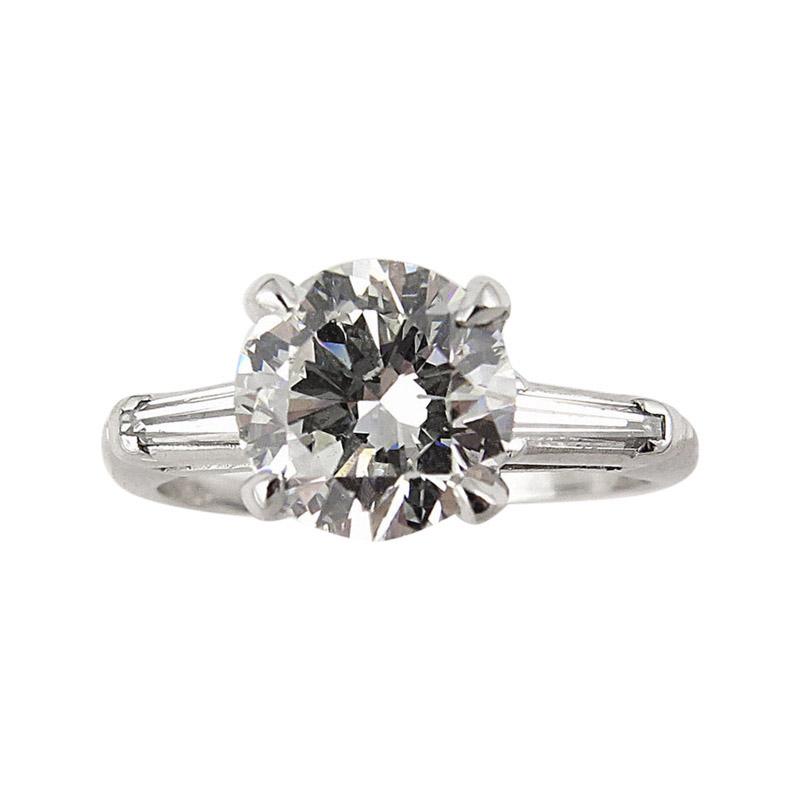 "Image of ""Platinum 2.15 Ct Round Diamond Vintage Engagement Wedding Ring"""
