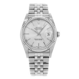 Rolex Datejust 16234 Stainless Steel & 18K White Gold 36mm Watch