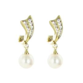 Mikimoto 18K Yellow Gold South Sea Pearls 0.45Ct Diamonds Earrings