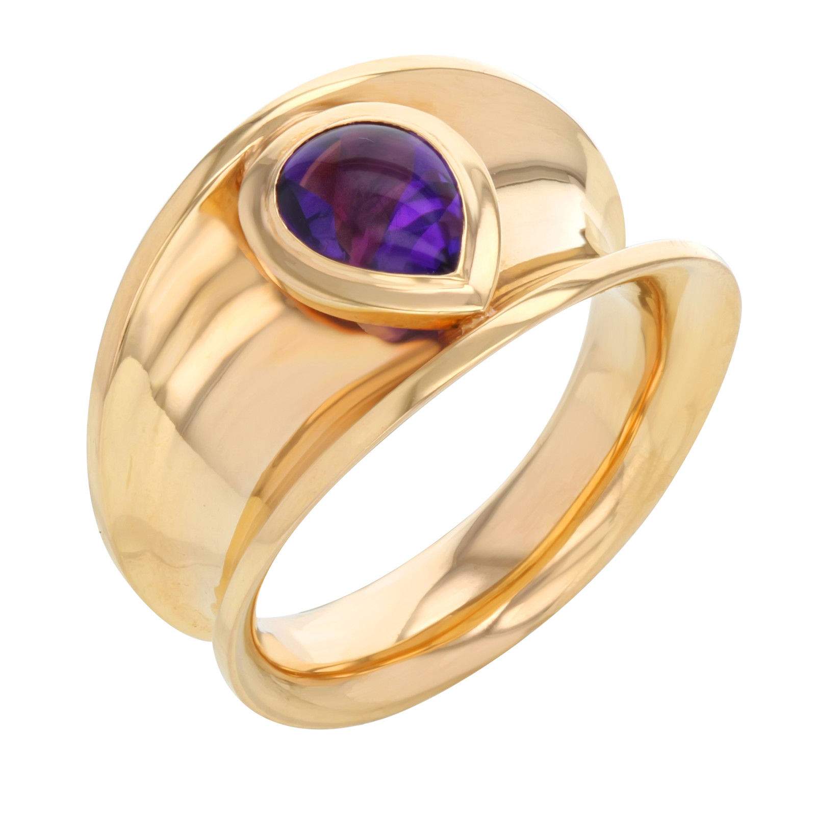 "Image of ""Chopard 18K Rose Gold & Amethyst Ring Sz 7"""