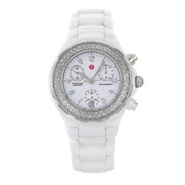 Michele Tahitian MWW12A000001 Ceramic & Steel Quartz Ladies Watch