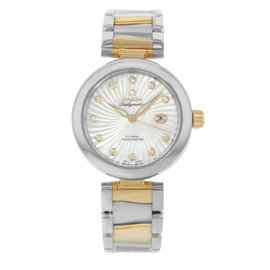 Omega DeVille Ladymatic 425.20.34.20.55.002 Steel & 18K Yellow Gold Womens Watch
