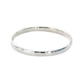Ippolita Glamazon SB048 Flat Hammered Sterling Silver Size 2 Bangle Bracelet