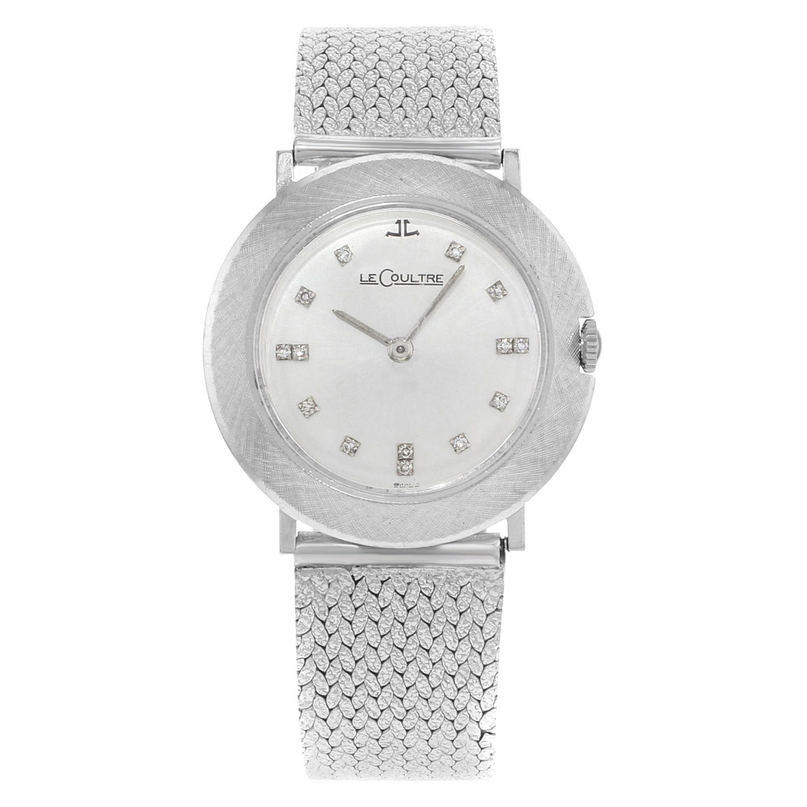 "Image of ""Jaeger-LeCoultre 14K White Gold Mechanical Hand Wind 33mm Womens Watch"""