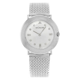 Jaeger-LeCoultre 14K White Gold Mechanical Hand Wind 33mm Womens Watch