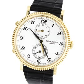 Patek Philippe Calatrava 5034J-001 Travel Dual Time 18K Yellow Gold 34mm Watch