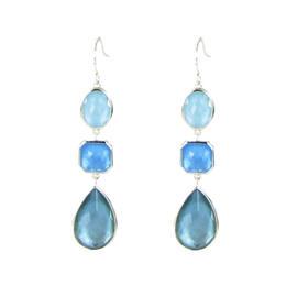 Ippolita 925 Sterling Silver Mother Of Pearl & Quartz Dangle Earrings